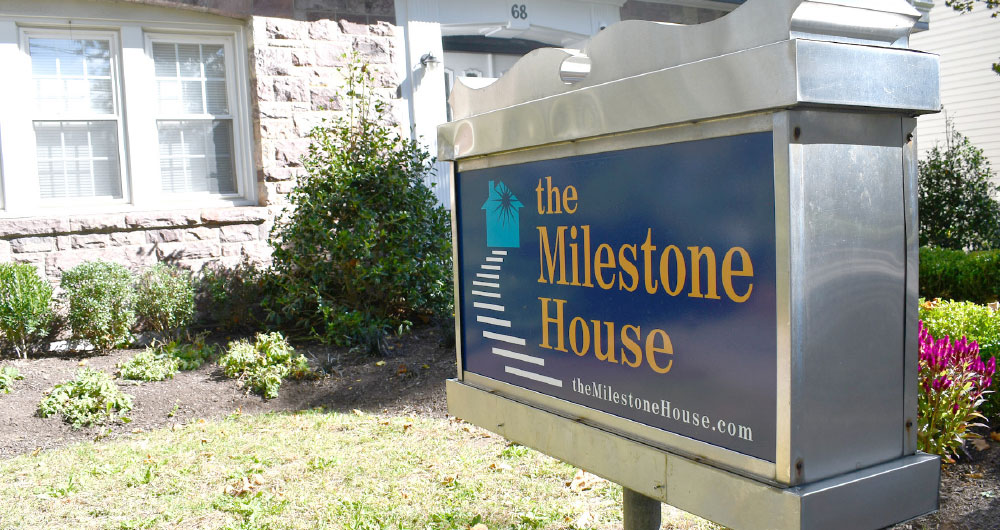 milestone house sign